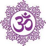 om aum logo simbolo decorative - insegno yoga - free yoga